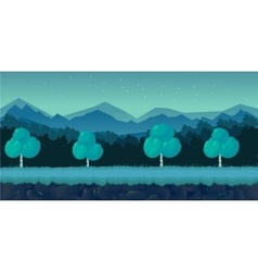 Night Forest Game Background for 2d application vector image