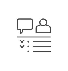 Online meeting line outline icon vector