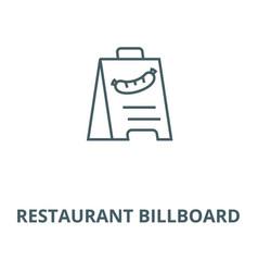 restaurant billboard line icon linear vector image