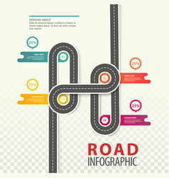 Road or highway car path top view infographic vector