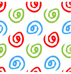seamless pattern with spiral hand drawn vector image