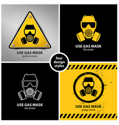 Set gas mask symbols vector