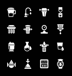 Set icons of water filters vector image