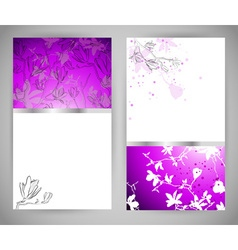Set of Abstract Floral Banners vector