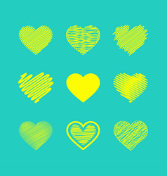 Set of valentines hearts vector