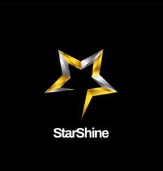 Shiny silver gold silver logo symbol icon vector