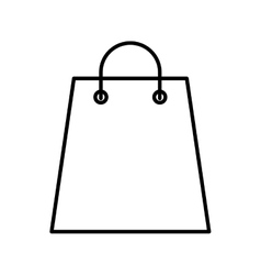 Shopping bag paper isolated icon vector