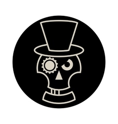 Skull in Hat cylindre vector image