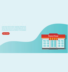 small store or franchise templated isolated on vector image