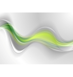Smooth green grey abstract waves design vector