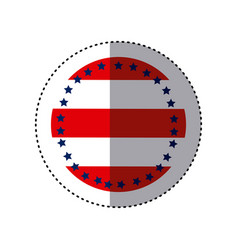 Sticker circular emblem flag with stars vector