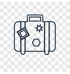 Suitcase concept linear icon isolated on vector