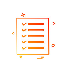 Todo list icon design vector