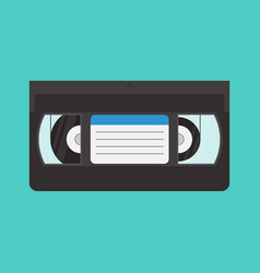 vhs cassette in a flat style vector image