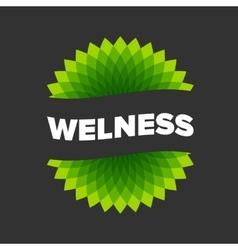 Wellness - logo template vector image