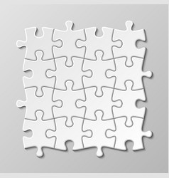 white blank puzzle piece set vector image