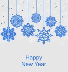 Winter Background for Happy New Year vector