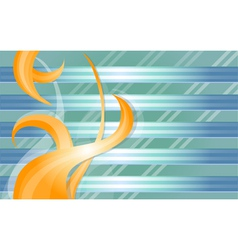 Blue background with orange abstraction vector image