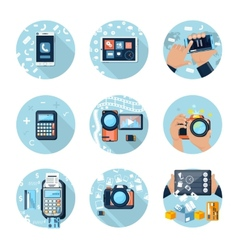 E-business concept computers smartphone pc vector