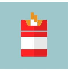 flat Cigarettes icon vector image