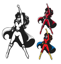 girl in superhero costume vector image