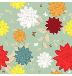 Seamless floral ornate pattern vector image vector image