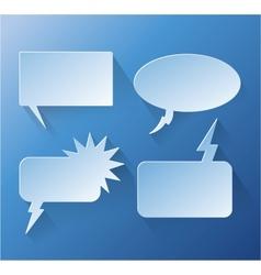 Abstract design speech bubble copyspace vector image vector image