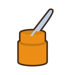 cartoon knife container utensil kitchen vector image
