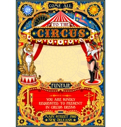 Circus Carnival Invite vintage 2d AurielAki vector image vector image