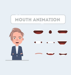 Lip sync collection for animation vector