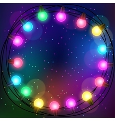 Celebration background with garland of bulbs vector image