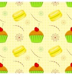 Dessert food pattern seamless patterns vector image vector image