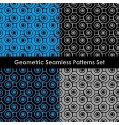 Geometric seamless patterns EPS 8 vector image