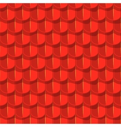 seamless background Red tile roof vector image