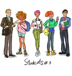Students - part 3 vector image vector image