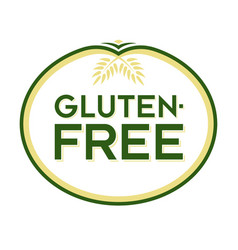 gluten-free logo vector image vector image