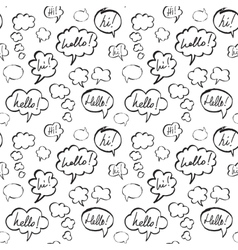 Hello and Hi Speech Bubbles Seamless Pattern vector image vector image