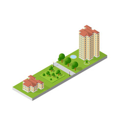 hotel apartments 3d dimensional building of vector image vector image