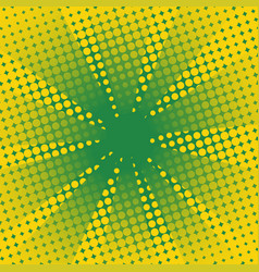 retro rays comic yellow green background vector image