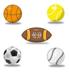 set of sport balls vector image vector image