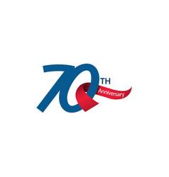 70 th anniversary template design vector