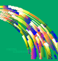 Abstract green colors curved scene vector