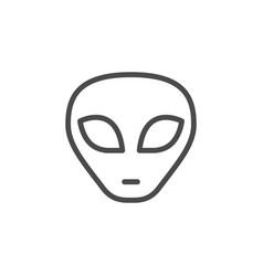 alien face line outline icon vector image