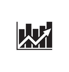 analysis stock market - black icon on white vector image