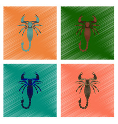 Assembly flat shading style animal vector