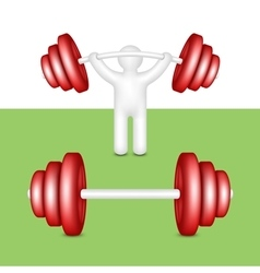 Athlete with a barbell vector image