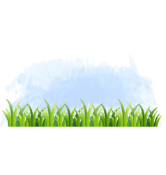 Background template with green grass vector