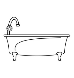 bathtube icon outline style vector image