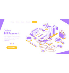 bill online payment secure mobile shopping and vector image