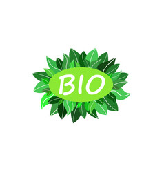 Bio green logo vector